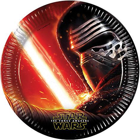 Ensemble de 8 assiettes de fête Star Wars : Le Réveil de la Force