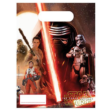 Set 6 bolsas fiesta, Star Wars VII: El despertar de la fuerza