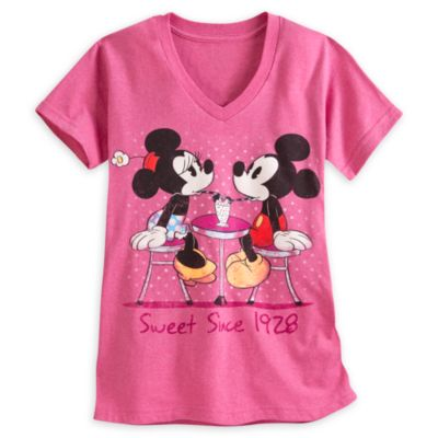 Mickey Mouse And Minnie Mouse Ice Cream Ladies' T-Shirt
