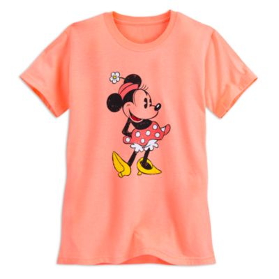 Minnie Mouse Orange Ladies' T-Shirt
