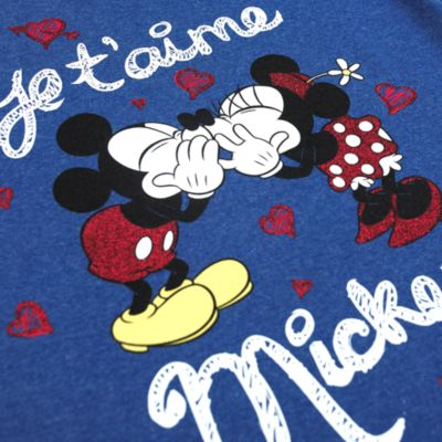 Mickey Mouse And Minnie Mouse Je T'Aime Ladies' T-Shirt