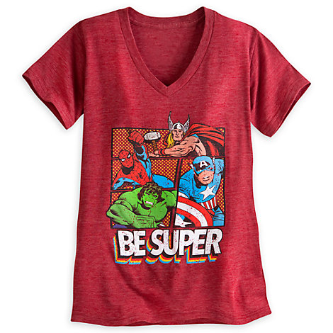 Marvel Superheroes Ladies' T-Shirt