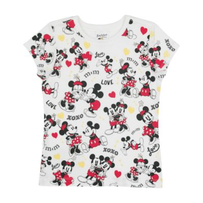 Mickey Mouse And Minnie Mouse T-Shirt For Kids