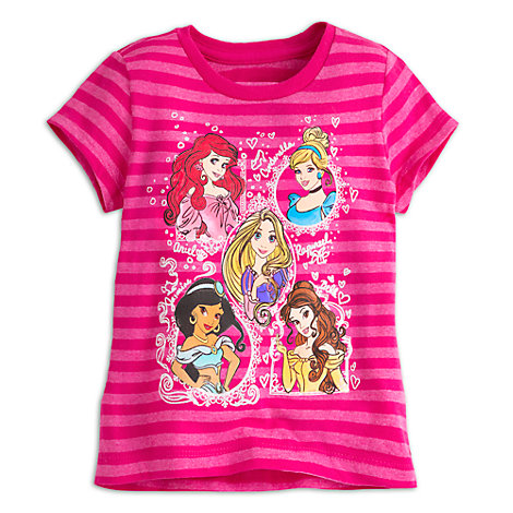 Disney Princess Stripe T-Shirt For Kids