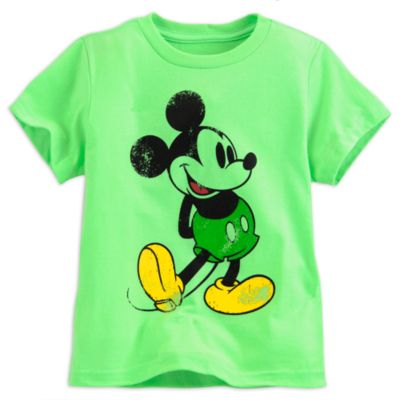 Mickey Mouse Green T-Shirt For Kids