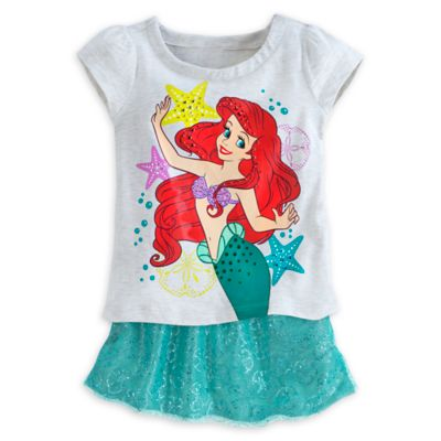 The Little Mermaid T-Shirt and Skort Set For Kids