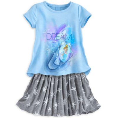 Cinderella Skirt Set For Kids