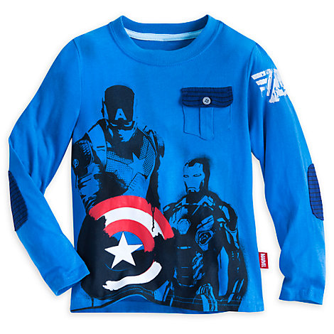 Captain America Top For Kids