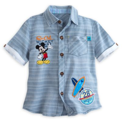 Mickey Mouse Stripe Shirt For Kids