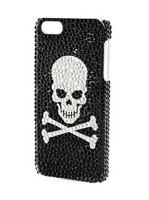 Rhinestone Encrusted Skull iPhone Case