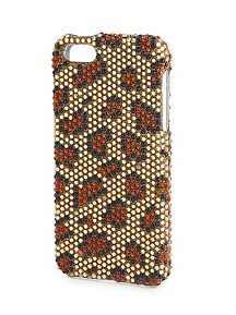 Embellished Leopard Print iPhone 4 & 4S Case