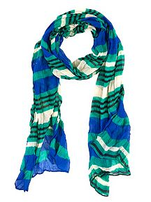 Multi Stripe Oblong Scarf