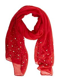 Pyramid Studded Oblong Scarf