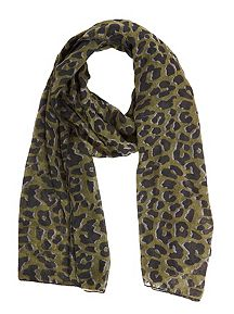 Camo Colored Animal Print Scarf