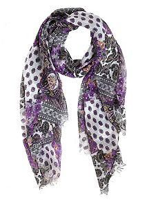 Paisley and Floral Print Oblong Scarf