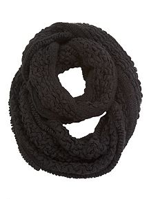 Textured Cozy Loop Scarf