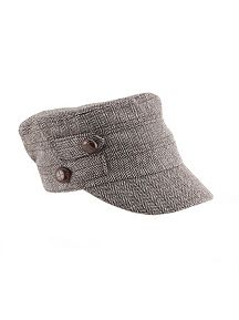 2 Button Herringbone Conductor Hat