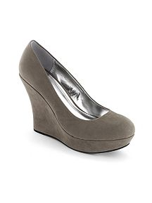 Suede Wedge Heel Shoe
