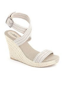 Braided Rope Wedge Sandal