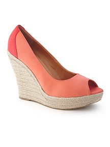 Peep Toe Wedge Espadrille
