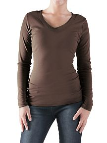 Long Sleeve Crossover V-Neck Tee