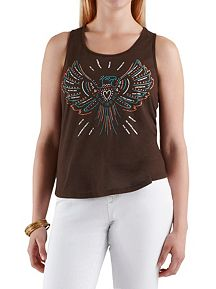 Studded Eagle Racer Back Tank