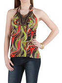 /product/Graphic-Print-Jeweled-Beaded-Neckline-Halter-Top/157191.uts