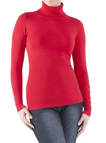 Long Sleeve Turtleneck with Button Sleeve