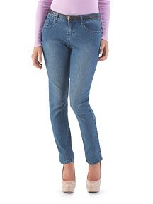 Curvy Fit Regular 5 Pocket Medium Wash Skinny Jeans