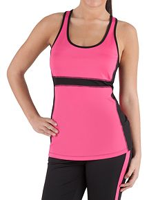 Color Blocked Racerback Performance Top