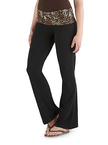 Lace Cheetah Wasitband Yoga Pants