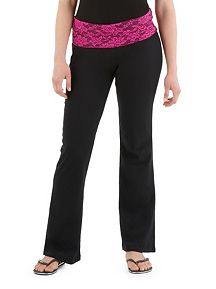 Yoga Pants with Lace Waist Band