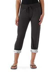 Lace Roll Leg Crop Pant