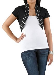Studded Cropped Cardigan