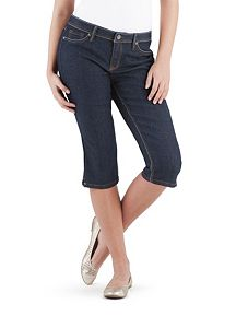 Super Stretch Side Slit Denim Capri