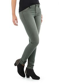 Faux Pocket Colored Skinny Jeans