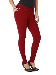 Hyper Stretch Cuffed Skinny Jeggings