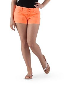 YMI 5 Pocket Frayed Neon Shorts