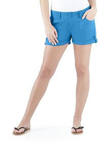 Curvy Fit 2 Button Roll Cuff Cotton Shorts