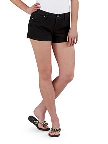 Super Stretch Side Slit Black Shorts