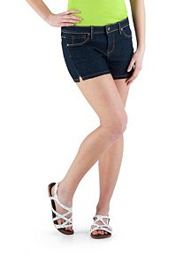 Super Stretch Side Slit Denim Shorts