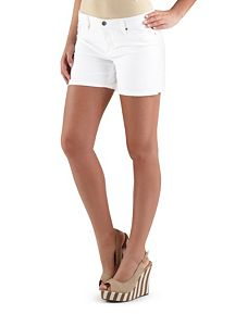 Super Stretch Side Slit White Shorts