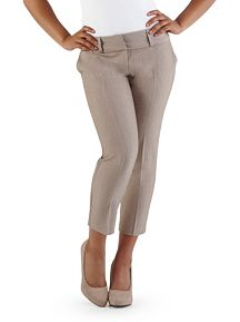 Wide Waist Crop Dress Pants