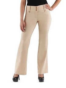 3 Button Wide Waist Pant