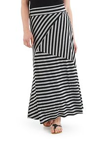 Multi Stripe Jersey Knit Skirt