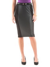 /product/Faux-Leather-Panel-Pencil-Skirt-with-Belt/159393.uts
