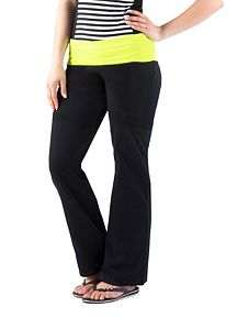 Neon Fold Over Waist Yoga Pants