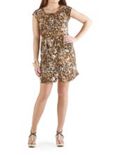/product/Animal-Print-Dress-with-Cage-Neckline/157419.uts