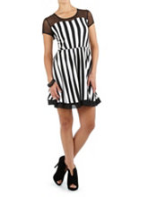 /product/Cap-Sleeve-Striped-Dress-with-Mesh-Neckline/158753.uts