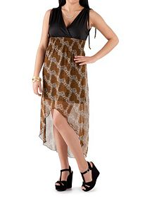 Tie Shoulder Animal Print Dress